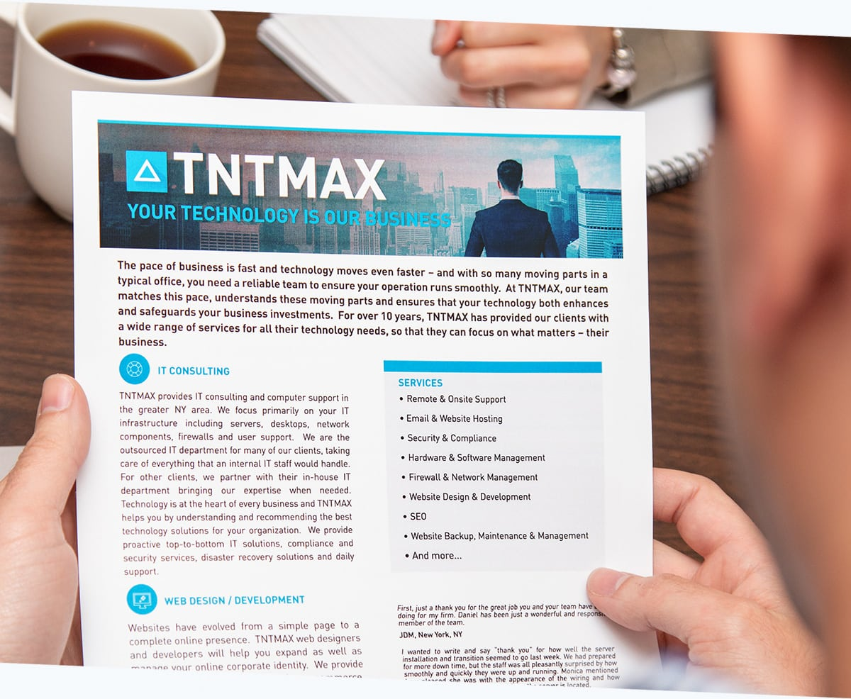 TNTMAX small business it support nj graphic